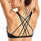 CRZ YOGA Sujetador Deportivo Yoga para Mujer Ejercicio Fitness Ropa Interior Negro M